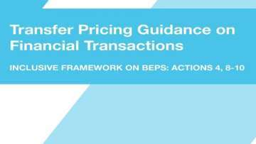 New TPG Chapter X on Financial Transactions (and additions to TPG Chapter I) released by OECD
